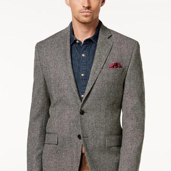13cc699266 Ralph Lauren Wool Herringbone Sport Coat Blazer